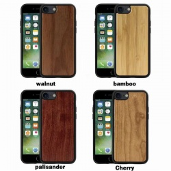 Original Real Wood Clear Phone Case